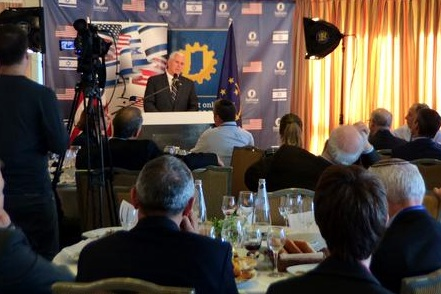 Governor Mike Pence addresses Israeli business leaders